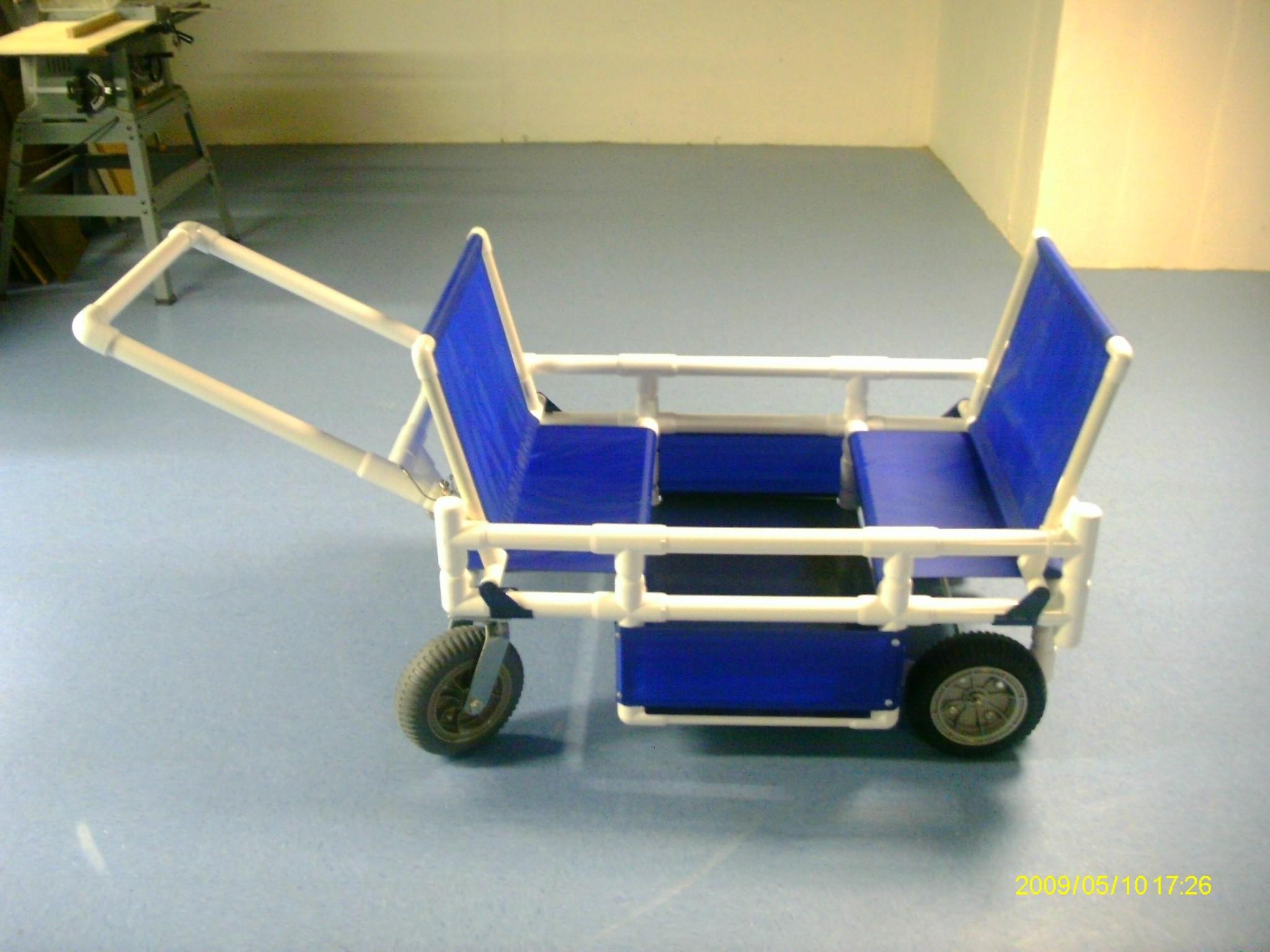 Open modular stroller