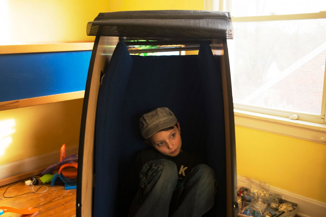 The Sensory Chair open in Patrick's room