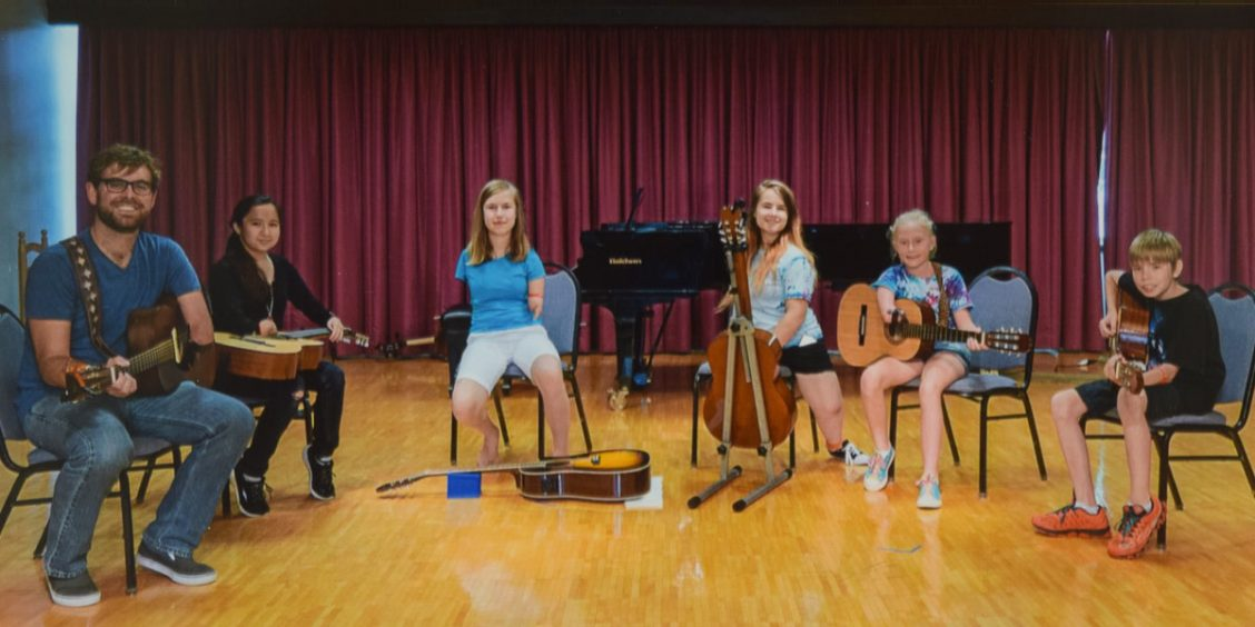 Participants at the Adaptive Music Project Music Camp 2016