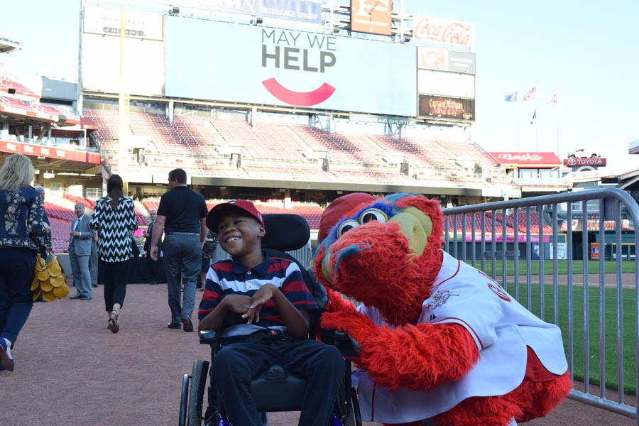 Gapper with child at Great American Ballpark