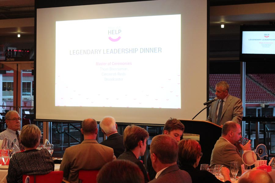 Thom Brennaman presenting at May We Help's Legendary Leadership Gala 2016