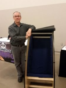 Bob Woolf with May We Help Sensory Chair