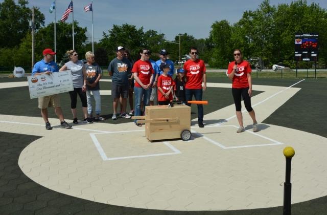 May We Help and Buddy Ball present at the baseball game