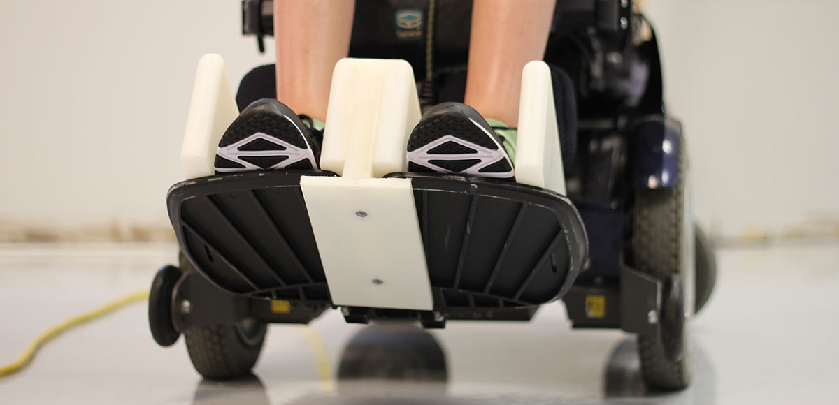 Wheelchair footrest adaptation