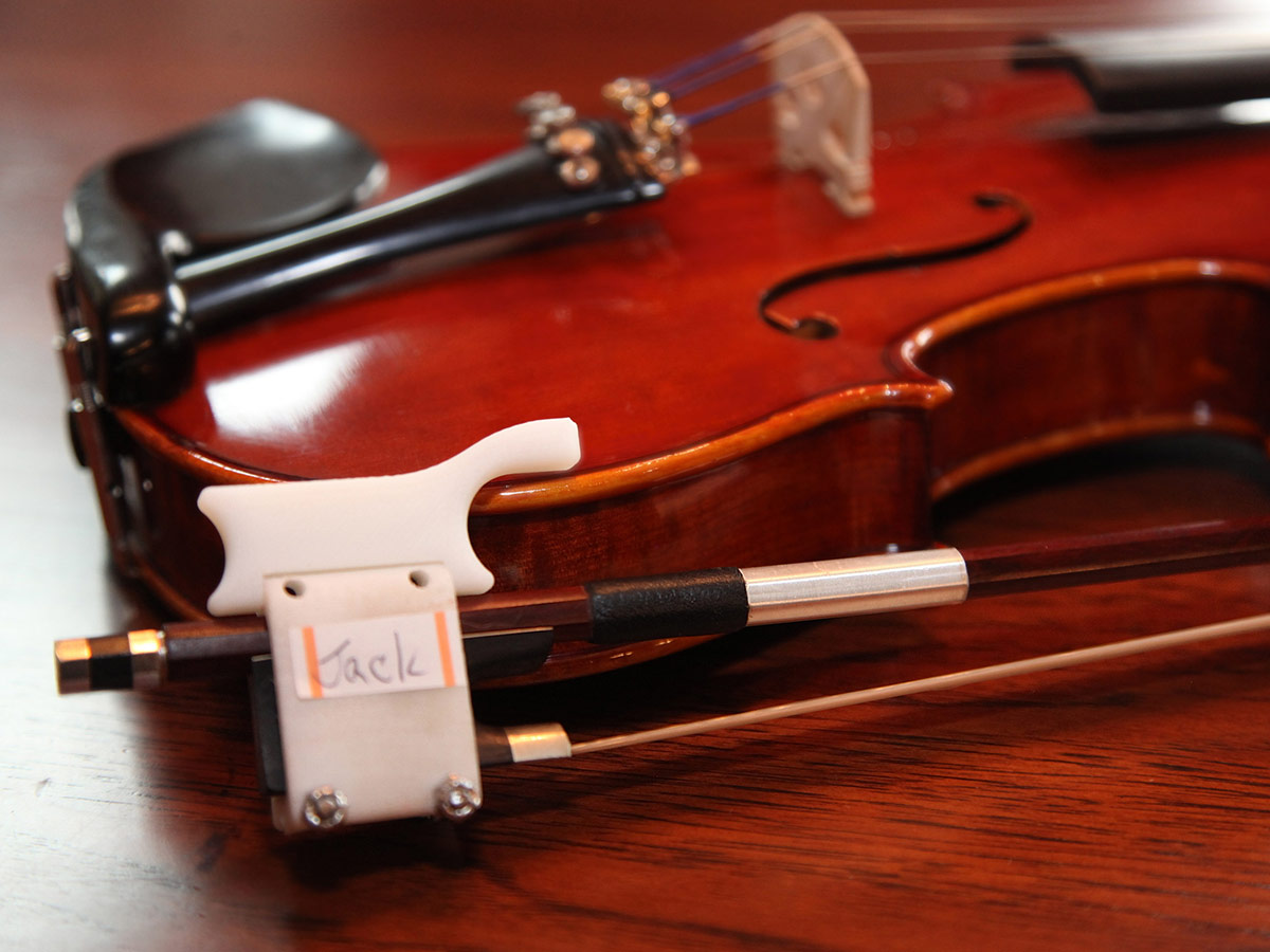 Jack's adaptive violin bow holder